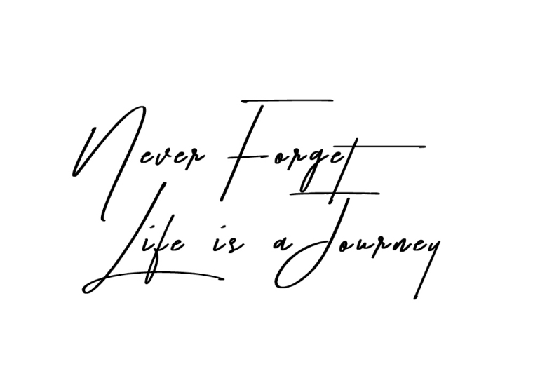 baseline - quote - positivity - Life is a Journey